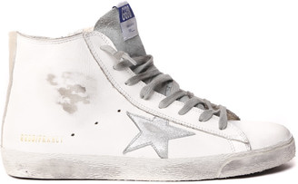 Golden Goose White Francy High Top Leather Sneaker