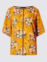 Marks and Spencer Floral Print Short Sleeve Shell Top