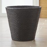 Crate & Barrel Sedona Black Tapered Waste Basket/Trash Can