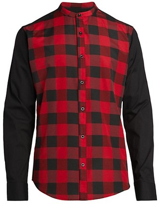 Rnt23 Plaid Stretch-Cotton Shirt