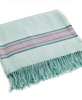 bluebellgray Welsh Stripe Wool Blend Throw Bedding