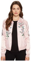 Romeo & Juliet Couture Flower Embroidered Varsity Jacket