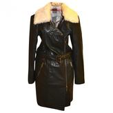 Burberry Black Leather Coat