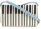 Stella McCartney Girls' Metallic Faux-Leather Piano Crossbody Bag, Gray