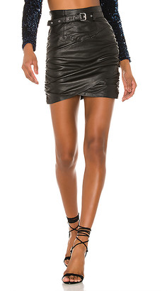 Camila Coelho Cami Leather Skirt
