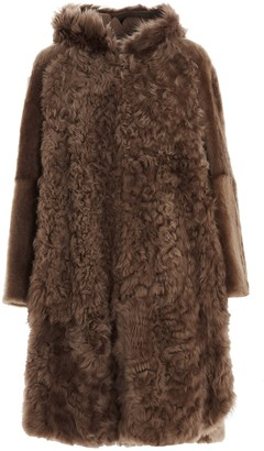 Yves Salomon Hooded Fur Coat