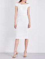 Roland Mouret Monamy off-the-shoulder stretch-crepe dress