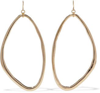 Kenneth Jay Lane 14-karat Gold-plated Earrings