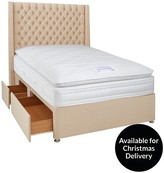 Luxe Collection From Airsprung Hepburn 1000 Pillowtop Divan Bed With Storage Options