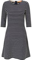 HUGO BOSS BOSS Orange Structured Stripe A-Line Dress, Dark Blue