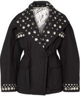 Isabel Marant Emmetis Reversible Embellished Cotton-canvas Jacket - Black