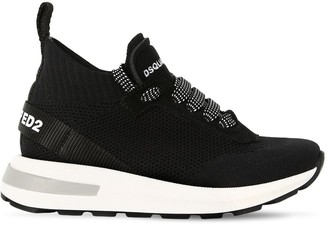 DSQUARED2 Lace-up Knit Sock Sneakers