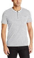 Kenneth Cole New York Men's Stripe Henley with Pocket Shirt