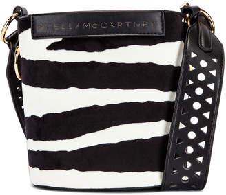 Stella McCartney Small Zebra Bucket Bag in Ivory & Brown | FWRD