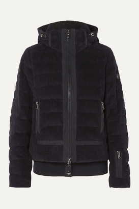 Bogner Muriel Hooded Quilted Cotton-corduroy Down Ski Jacket - Black