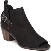 Lucky Brand Braydon Leather Side Cutout Peep-Toe Booties