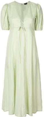 Callipygian lace-up maxi dress