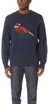 White Mountaineering Bird Pattern Intarsia Round Neck Knit Sweater