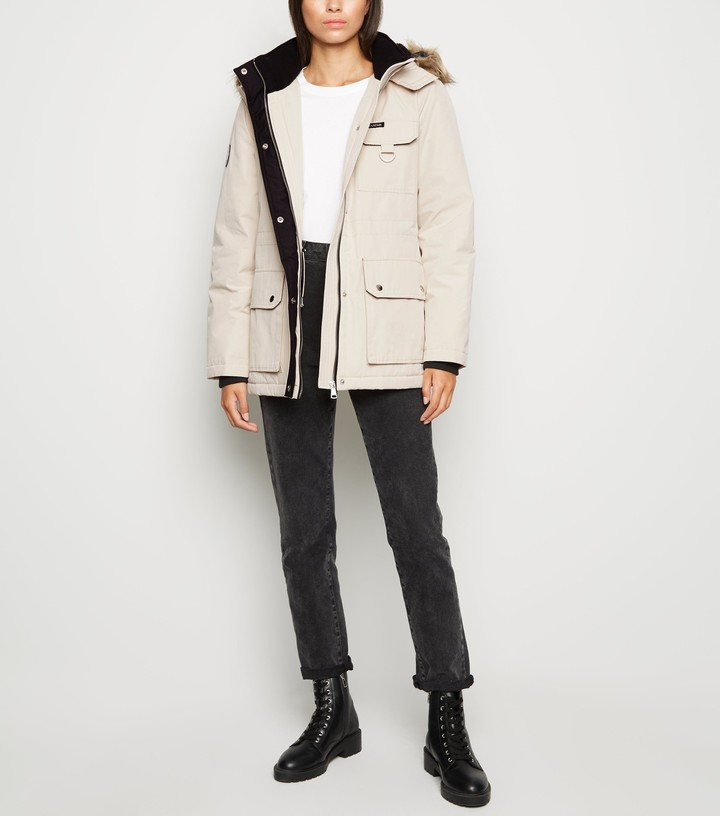 New Look Faux Fur Parka Coat