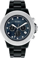 Elgin Womens Black Crystal Chronograph Watch