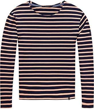 Scotch & Soda Maison Women's Friend Fit Long Sleeve Tee in Breton Stripes T-Shirt,Small