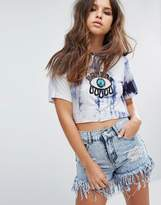 PrettyLittleThing Tie Dye Eye Applique T-Shirt