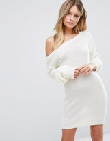 Boohoo Off The Shoulder Sweater Dress