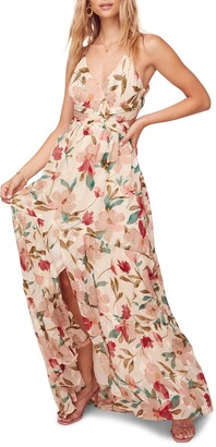 ASTR the Label Sleeveless Floral Print Maxi Dress