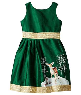 fiveloaves twofish Fawn of Winter Dress (Toddler/Little Kids/Big Kids)
