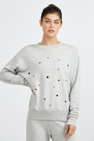 Monrow COZY TOP WITH STARDUST FLOCKING