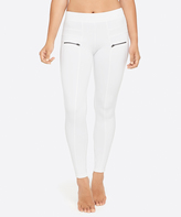 Yummie by Heather Thomson White Zip-Accent Leggings