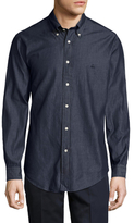 Brooks Brothers Solid Button-Down Collar Sportshirt