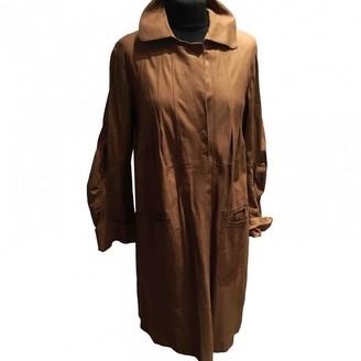 Sylvie Schimmel Camel Leather Leather Jacket for Women