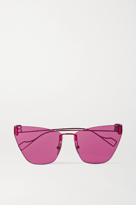 Balenciaga Cat-eye Metal Sunglasses - Fuchsia