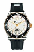 Salvatore Ferragamo Men's FF3110014 1898 SPORT Analog DisplaySwiss Quartz Black Watch