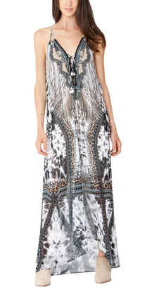 Hale Bob Sleeveless Halter Maxi Dress