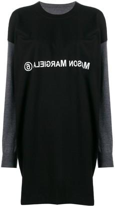 MM6 MAISON MARGIELA T-shirt layered knitted dress