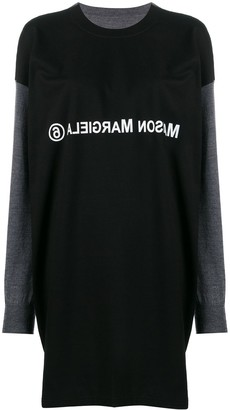 MM6 MAISON MARGIELA T-shirt layered knitted dress