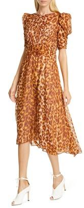 Kate Spade Panthera clip dot silk dress