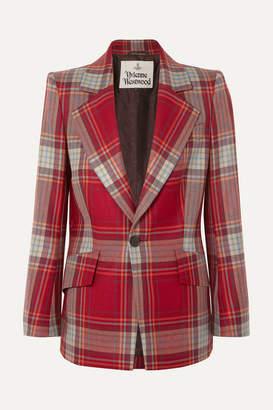 Vivienne Westwood Lou Lou Tartan Wool Blazer - Burgundy