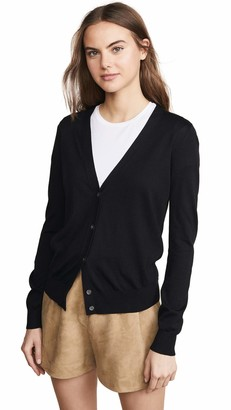 Theory Women's Button UP Vneck Cardigan
