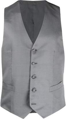 Canali embroidered slim-fit waistcoat
