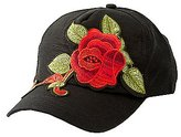 Charlotte Russe Rose Embroidered Baseball Hat