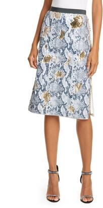 Ted Baker 2 Way Snake Sequin Midi Skirt