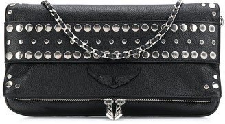 Zadig & Voltaire Studded Grained Leather Bag