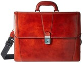 Bosca Old Leather Collection - Double Gusset Briefcase (Cognac Leather) Briefcase Bags