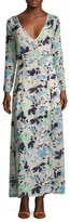 Lucca Couture Velvet Madeline Maxi Wrap Dress