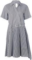 Sportmax 'Risorsa' striped asymmetric dress - women - Cotton - 42