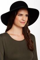 Phenix Round Crown Floppy Wool & Leather Hat