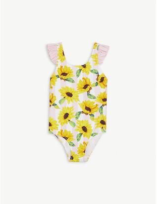 MC2 Saint Barth Sunflower print ruffled swimsuit 4-14 years